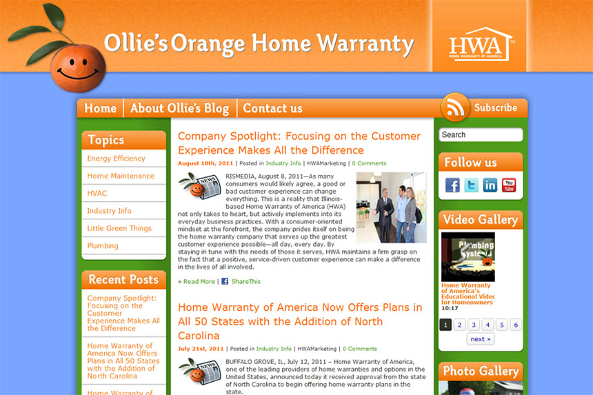 Ollie's Orange Home Warranty