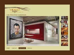 Wood Logic Custom Millwork Portfolio page
