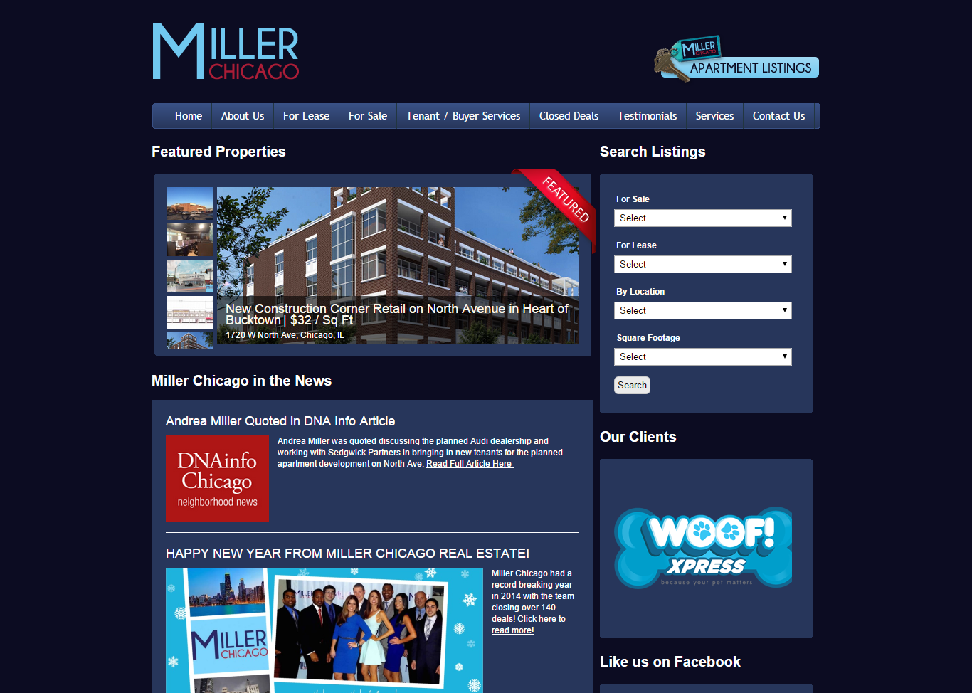 Miller Chicago Real Estate website