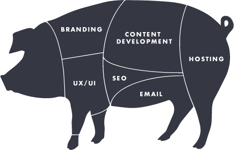 That's right--whole hog web design.