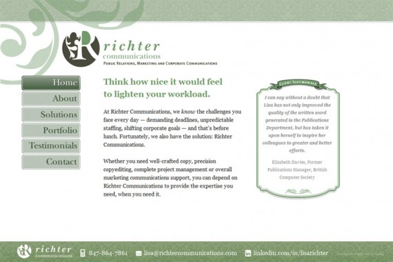 Richter Communications website